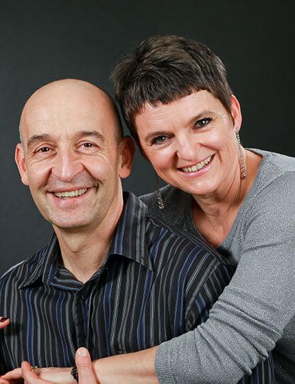 Muriel et Max, propriétaires du domaine du lac de soursac