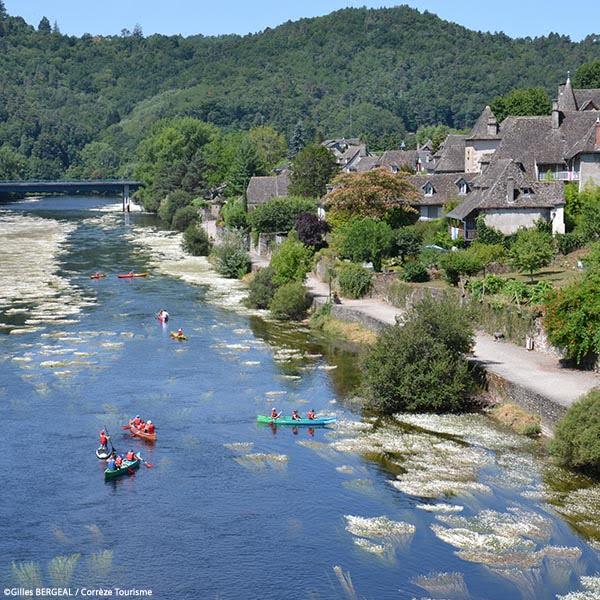 Canoë-kayak sur la Dordogne à Argentat - Domaine du Lac de Soursac - Corrèze