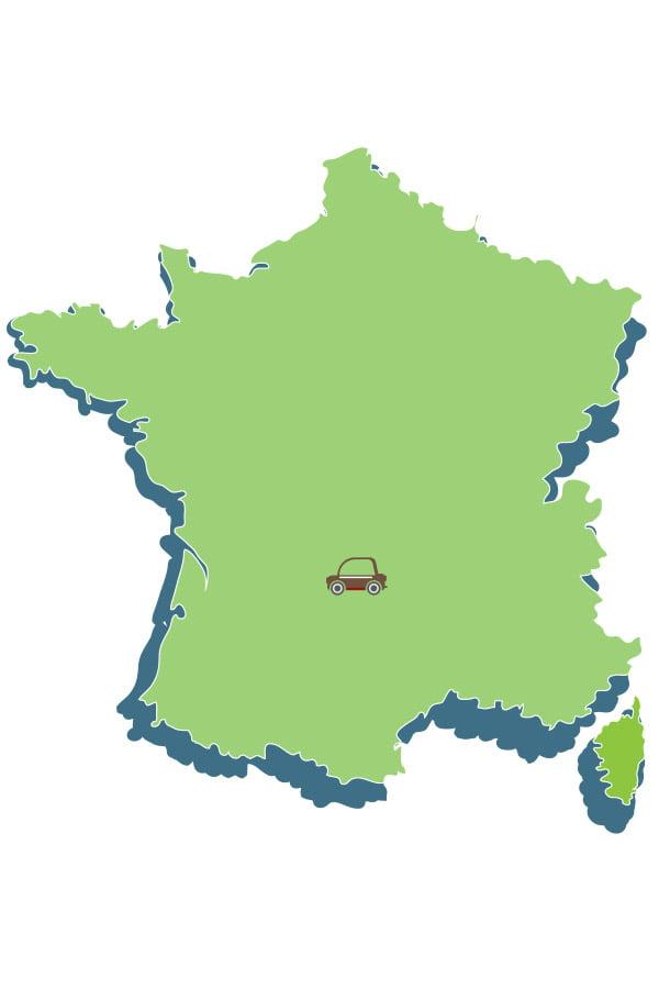 Localisation du Domaine du lac de Soursac